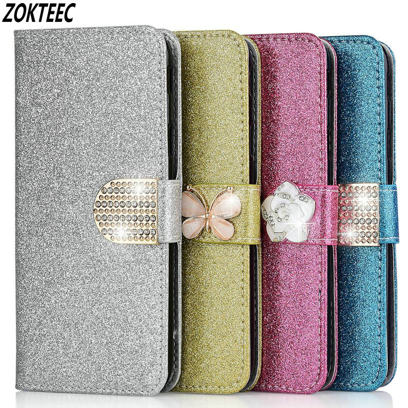 Leather Flip Bling Case For <font><b>Redmi</b></font> <font><b>4A</b></font> 5A 6A 7A 8A Note 7 8 Pro 4 Pro 5 Plus <font><b>Book</b></font> Bag <font><b>Cover</b></font> Coque <font><b>Redmi</b></font> 7A 8A Note 8 Pro image