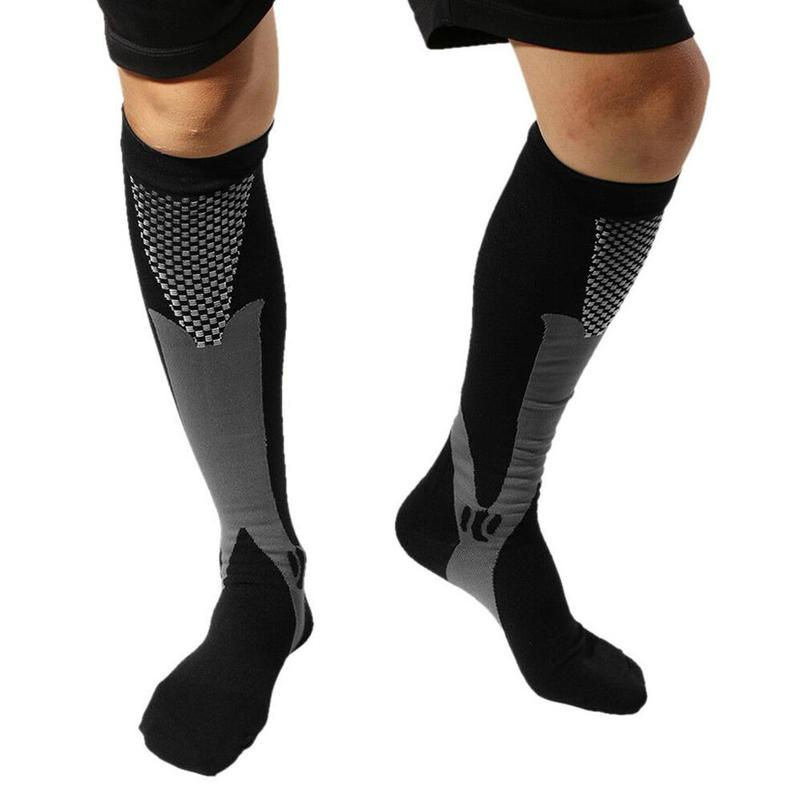 1 Pair Men Women Compression Socks For Sports Football Socks For Anti Fatigue Pain Relief Knee High Stockings
