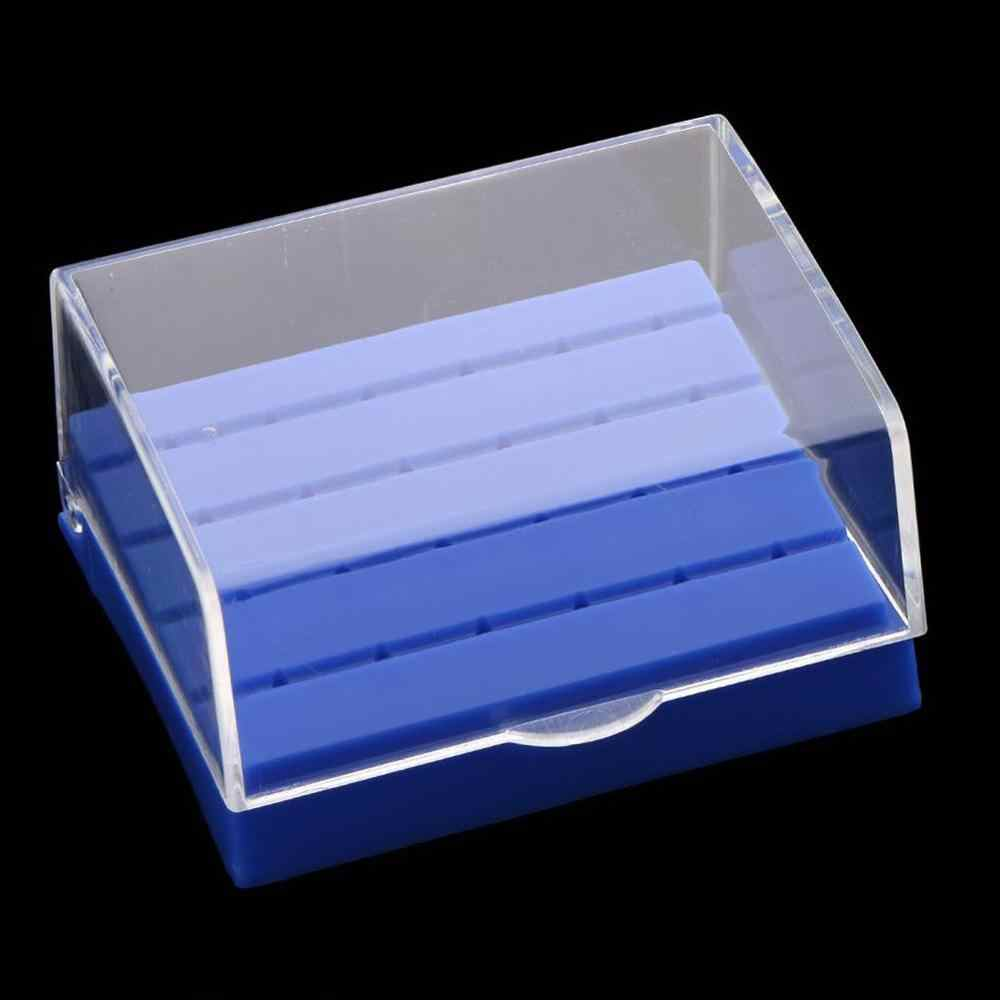 1 PC 24 หลุมขายร้อนพลาสติกทันตกรรม Bur Holder Disinfection ทันตแพทย์สีฟ้า/สีขาวกล่องผลิตภัณฑ์อุปกรณ์ Lab กรณี N8R7