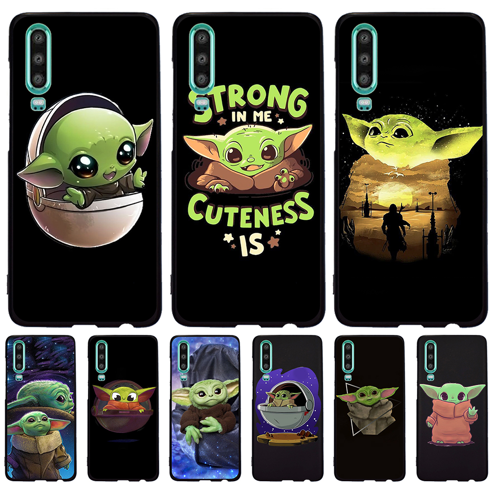 Baby yoda meme For Huawei P40 P30 Pro P20 P10 P8 Lite 2017 Mate 30 20 10 Lite Pro phone case coque funda cover Silicone cartoon image