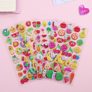 1 Sheets 3D Cartoon Stickers Bubble PVC Wall Stickers For Kids Gift Notebook Sticker Label Room Decoration