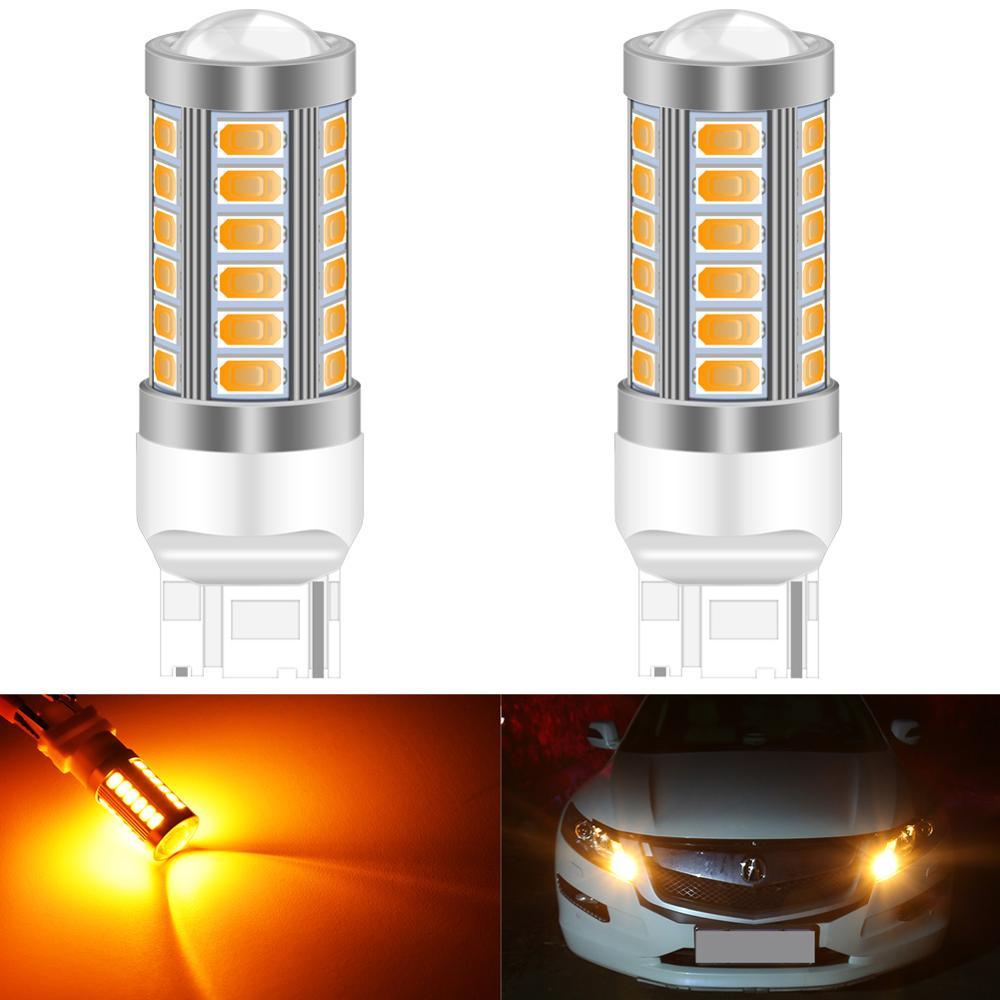 2x T20 7443 7440 5630 33SMD LED Car Brake Light Backup Turn Lights Bulb Red