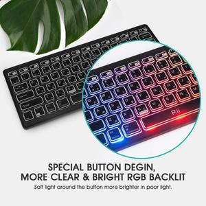 Image 5 - Rii Bluetooth 4.0 Wireless Multiple Color Rainbow LED Backlit Keyboard With Rechargeable Battery For iOS Android and MacBook