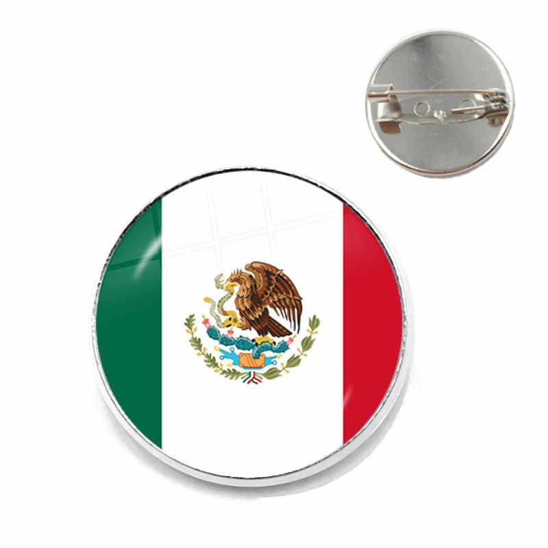 Chile węgry urugwaj meksyk rumunia chorwacja watykan Panama wietnam flaga narodowa szkło broszka kołnierz spinki biżuteria prezent