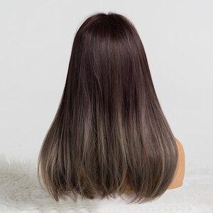 Image 5 - Easihairオンブル金髪のかつらの前髪ストレート合成かつら女性のためのアフリカ系アメリカ人耐熱コスプレウィッグ