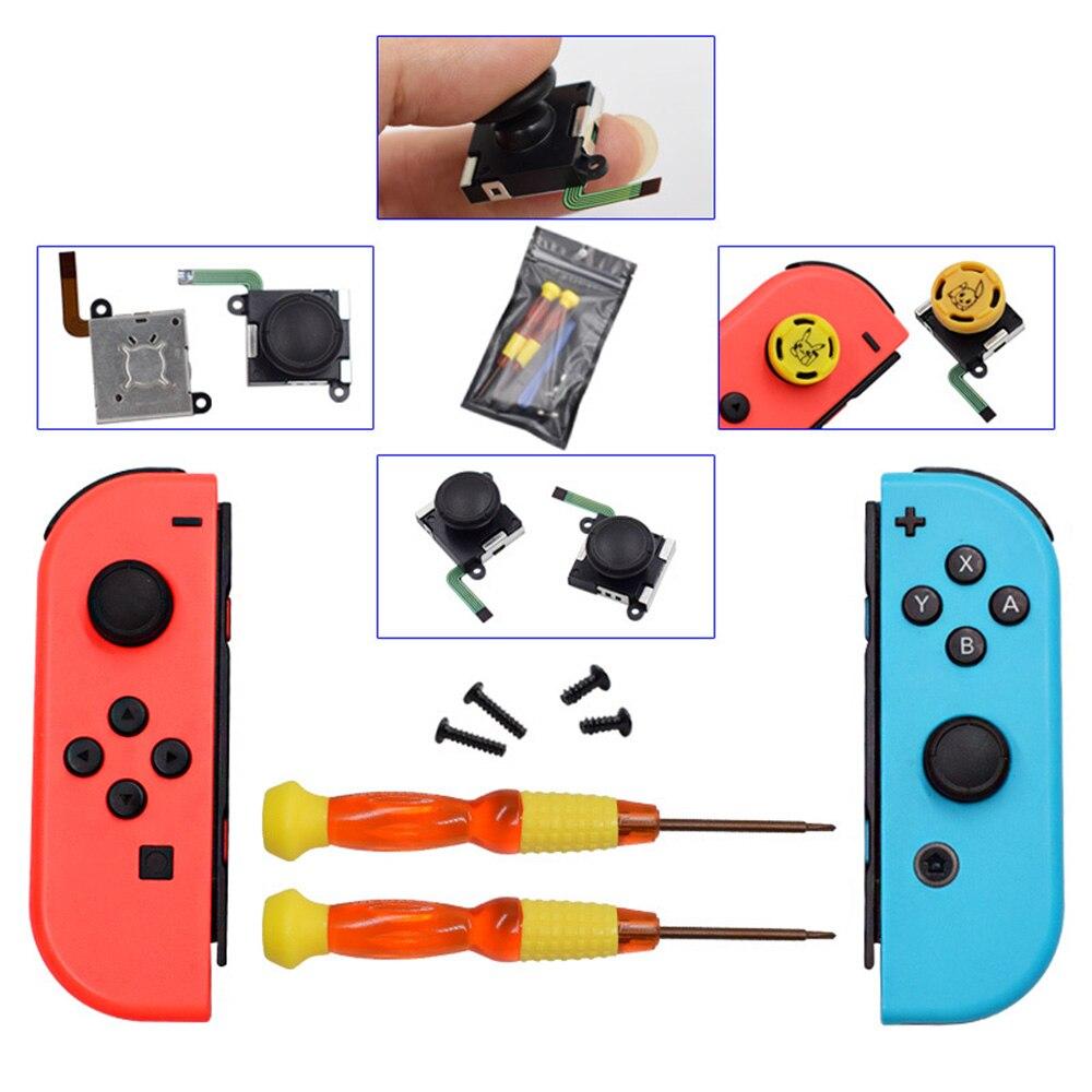 Zestaw do demontażu i naprawy Joy con wymiana joysticka 3D na akcesoria do grania Nintendo Switch