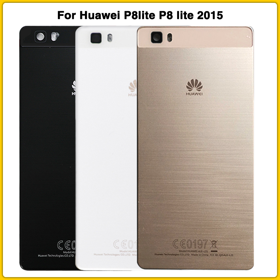New P8lite Rear Housing Case For Huawei P8 Lite 2015 Battery Back Cover Door Rear Cover Replacement