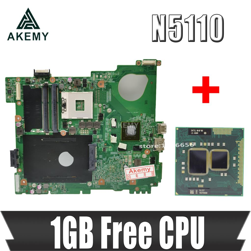 Akemy N5110 материнская плата для ноутбука DELL inspiron 15R N5510 материнская плата CN-0J2WW8 0J2WW8 HM67 DDR3 GT525M 1GB Бесплатная Процессор