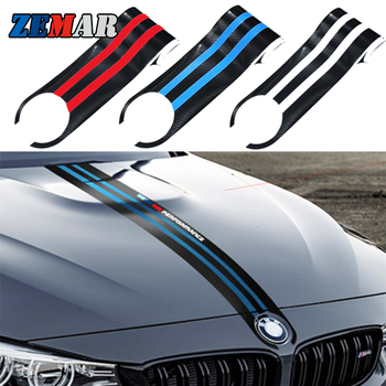 Carbon Fiber Car Hood Sticker Decals For BMW G20 E92 E30 E34 X3 E83 E87 F25 X6 E71 F11 E46 COUPE E38 F22 F34 E61 M4 E93 F15 E65 image