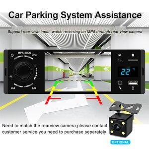 """Image 5 - Podofo rádio automotivo, rádio automotivo com tela sensível ao toque de 4 """", bluetooth, som estéreo, mp5, usb, tf, exibição de temperatura, mãos livres in dash"""