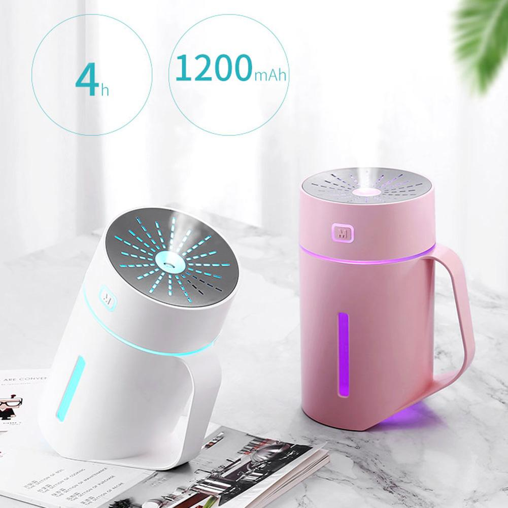 420ml Portable USB Powered Mist Humidifier Air Diffuser Air Humidifier Purifier With LED Light(7 Color) Air Cooler For Home Hot