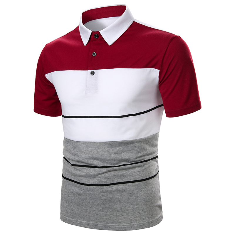Men Polo Men Shirt Short Sleeve Polo Shirt Contrast Color Polo New Clothing Summer Streetwear Casual Fashion Men tops
