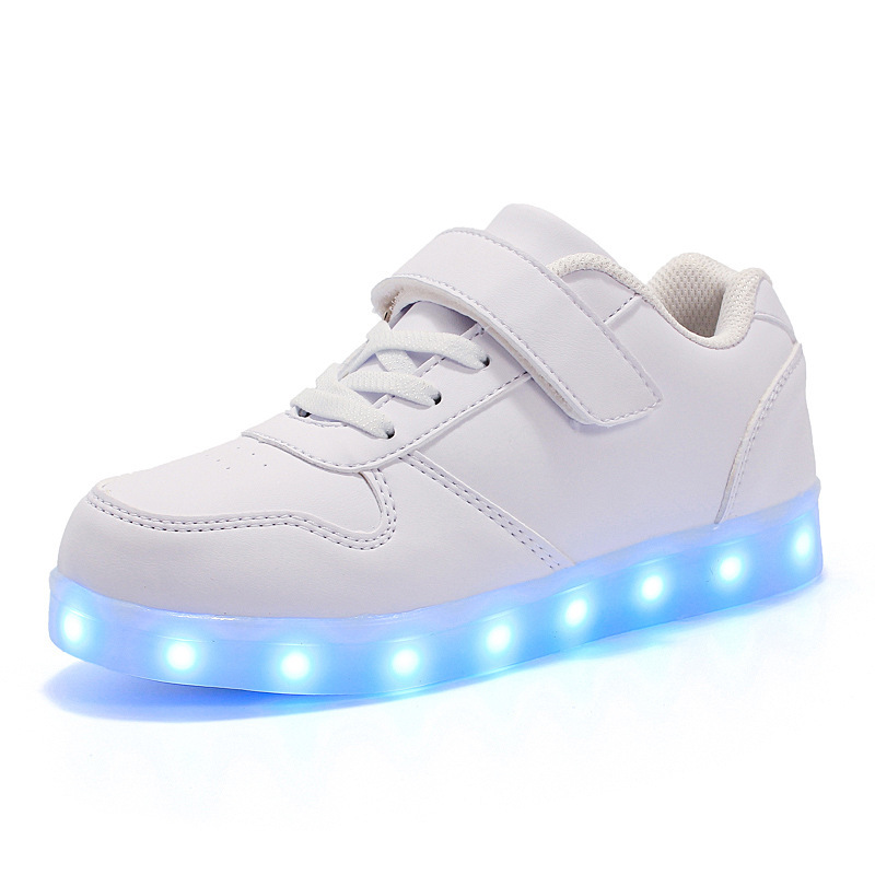 7ipupas Child Led Shoes  USB Chargering Light Up Shoes For Boys Girls Glowing Christmas Sneakers