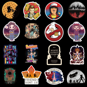 Image 3 - 10/20/30/40/50pcs Pack Anime Stranger Things Stickers Waterproof PVC Guitar Skateboard Decals Luggage Laptop Kids Toy Sticker