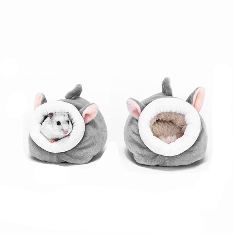 New Cute Soft Small Pet Warm House Hamster Pet Nest Hamster Warm House Cage Comfortable Animal Room