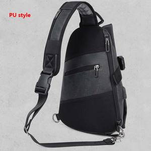 Image 5 - Usb de carregamento de couro slling saco peito sacos ombro esportes ao ar livre ginásio saco diário para masculino ginásio esportes sling usb sacos xa496wa