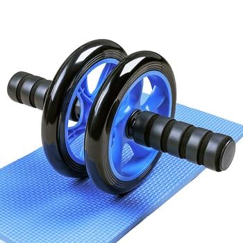 Rodillos de doble rueda para presión Abdominal, equipamiento de ejercicio para gimnasio en casa, Fitness para culturismo con Hassock