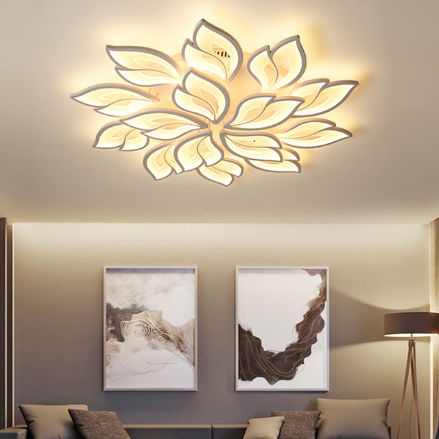 LED Chandelier Indoor Lighting Lustre chandeliers Ceiling With Remote Control Lustres Living Room Bedroom kitchen Fixture Light 2