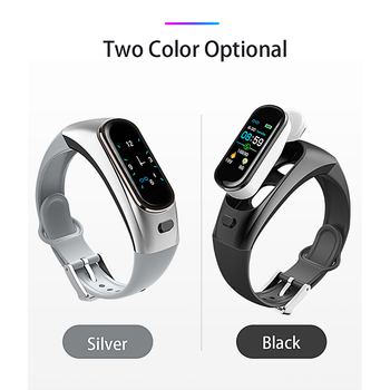 Watch Bluetooth smart bracelet blood pressure heart rate monitoring Bluetooth headset two in one answering phone