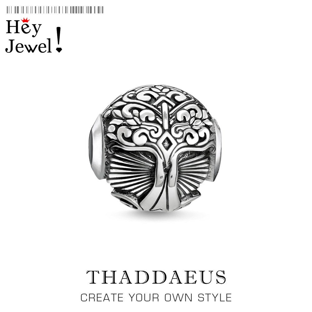 Beads Tree,925 Sterling Silver Bead Fits Bracelet Thomas Jewelry Trendy Symbolises Strength Balance Growth Gift For Women Men
