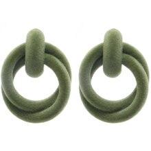 Элегантные 11 бархатные серьги кольца круглый модный обруч для