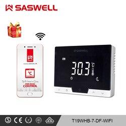 SASWELL WiFi smart thermostat Controller für zimmer Gas Kessel thermostat wöchentlich programmierbare arbeit mit SCU210DE/209DE