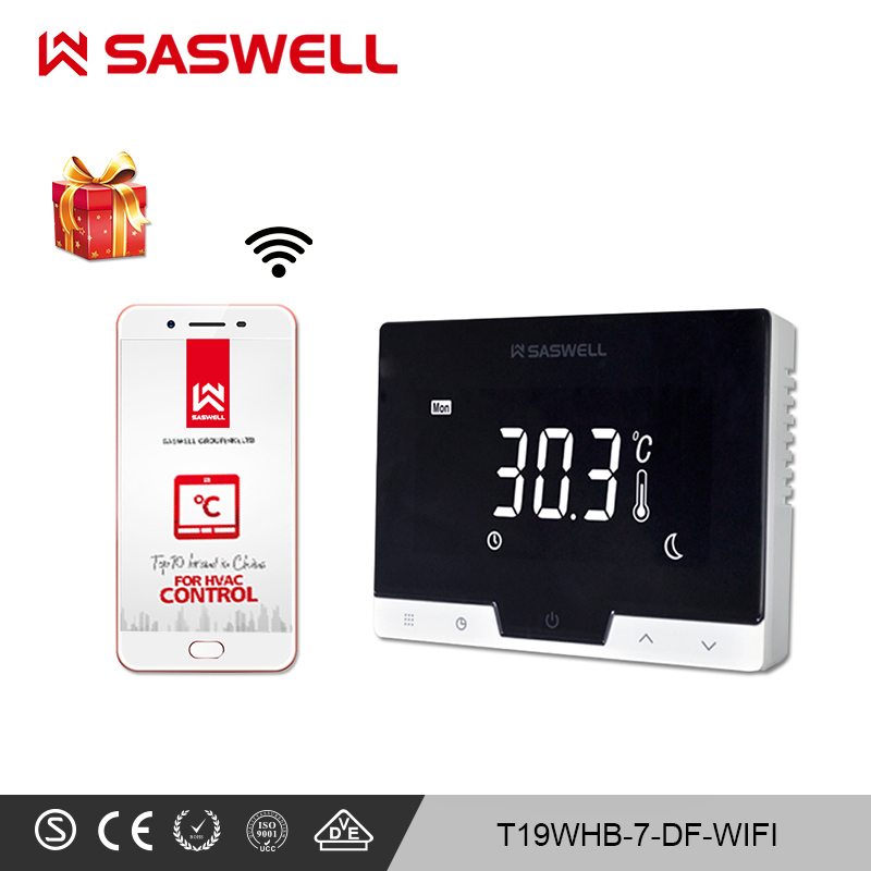 SASWELL WiFi Smart Thermostat Controller For  Room  Gas Boiler Thermostat Weekly Programmable Work With SCU210DE/209DE