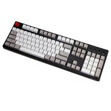 Retro Gray pbt Double Shot keycap oem Backlit Keycaps for Mechanical Keyboards 87 tkl 104 108 ansi Key caps