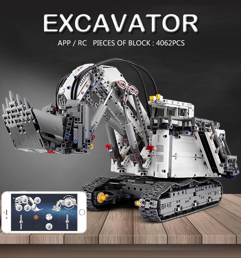 MOULD KING  Technic Motor Power Mobile Crane Mk II Building Block 1