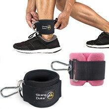 Nuove attrezzature per il Fitness palestra cinturino alla caviglia imbottito doppio d-ring regolabile pesi alla caviglia bretelle supporto rapitori dell'anca allenamento delle gambe