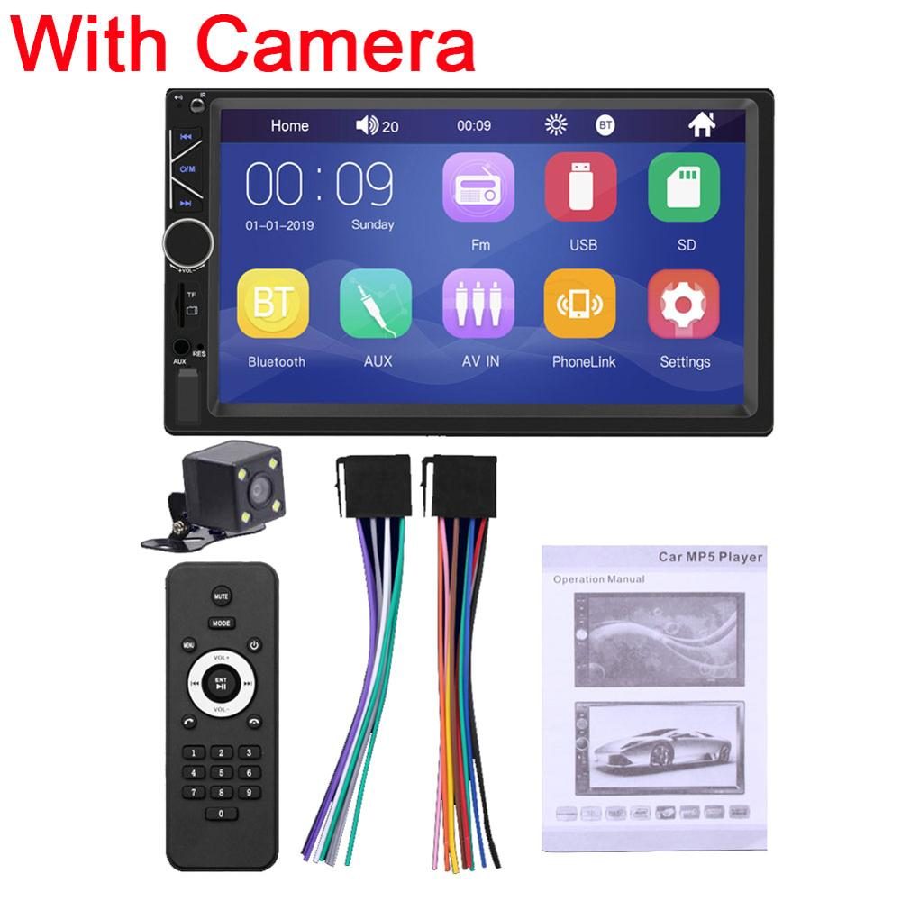 2 DIN 7 inch Car <font><b>MP5</b></font> <font><b>Player</b></font> Video <font><b>Player</b></font> Stereo Audio FM Radio Aux/USB/TF Input with Mobile Phone Interconnection Car <font><b>Player</b></font> A6 image