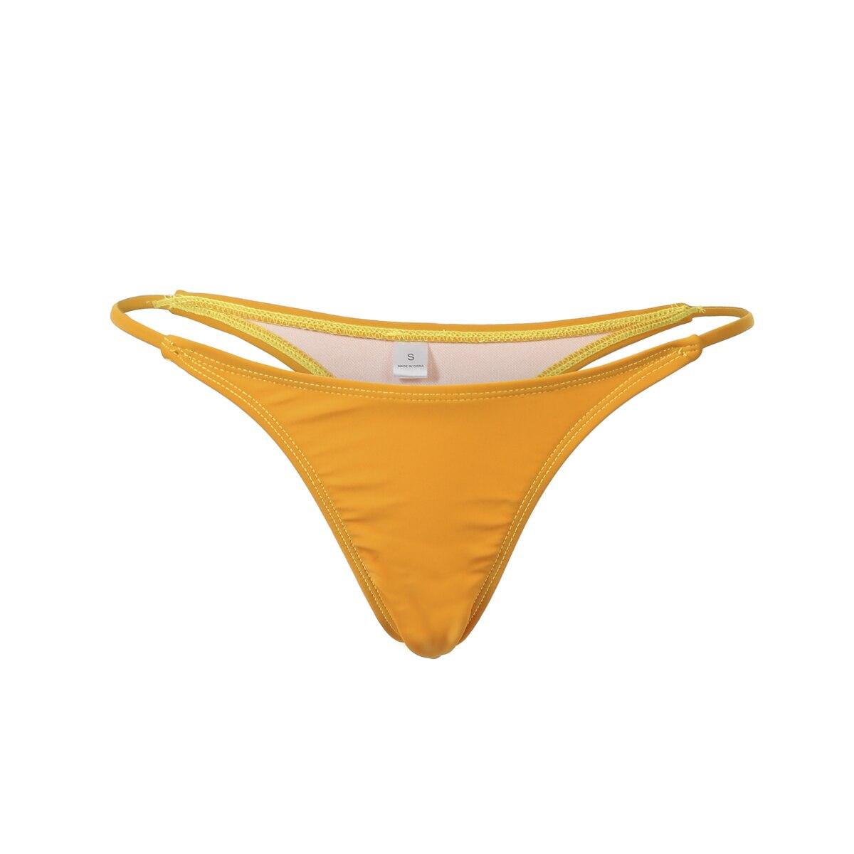 Женский сексуальный Бразильский бикини стринги Пуш-Ап купальный костюм с бикини - Цвет: D