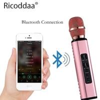 Draadloze Bluetooth Karaoke Microfoon Met Dubbele Luidsprekers Draagbare Intelligente Microfoon Voor Mobiele Telefoon Karaoke Familie Karaoke