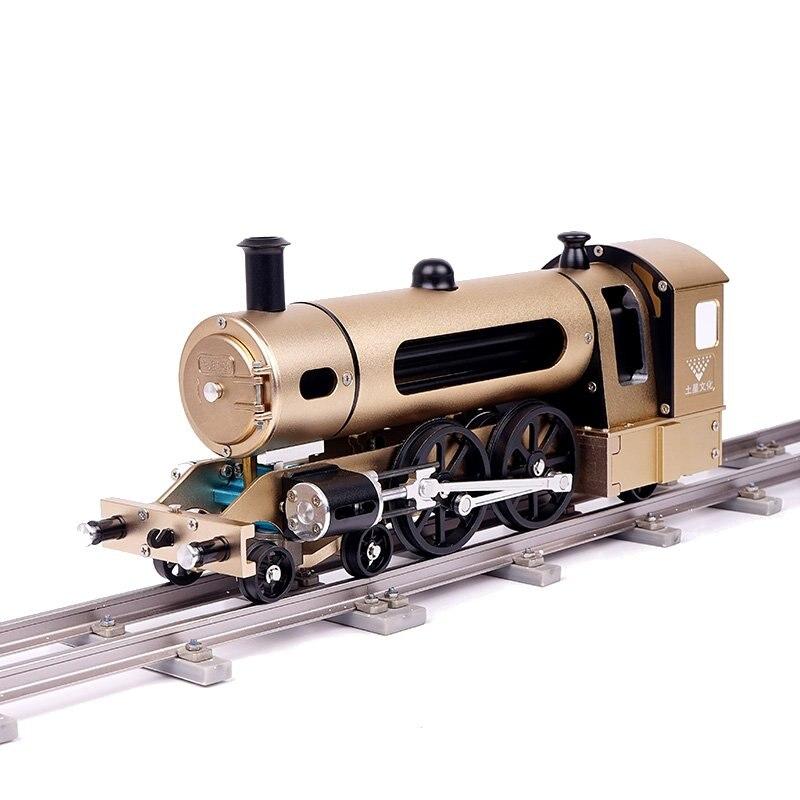 Teching moteur Train à vapeur modèle avec voie en alliage d'aluminium complet modèle cadeau Collection tige jouets