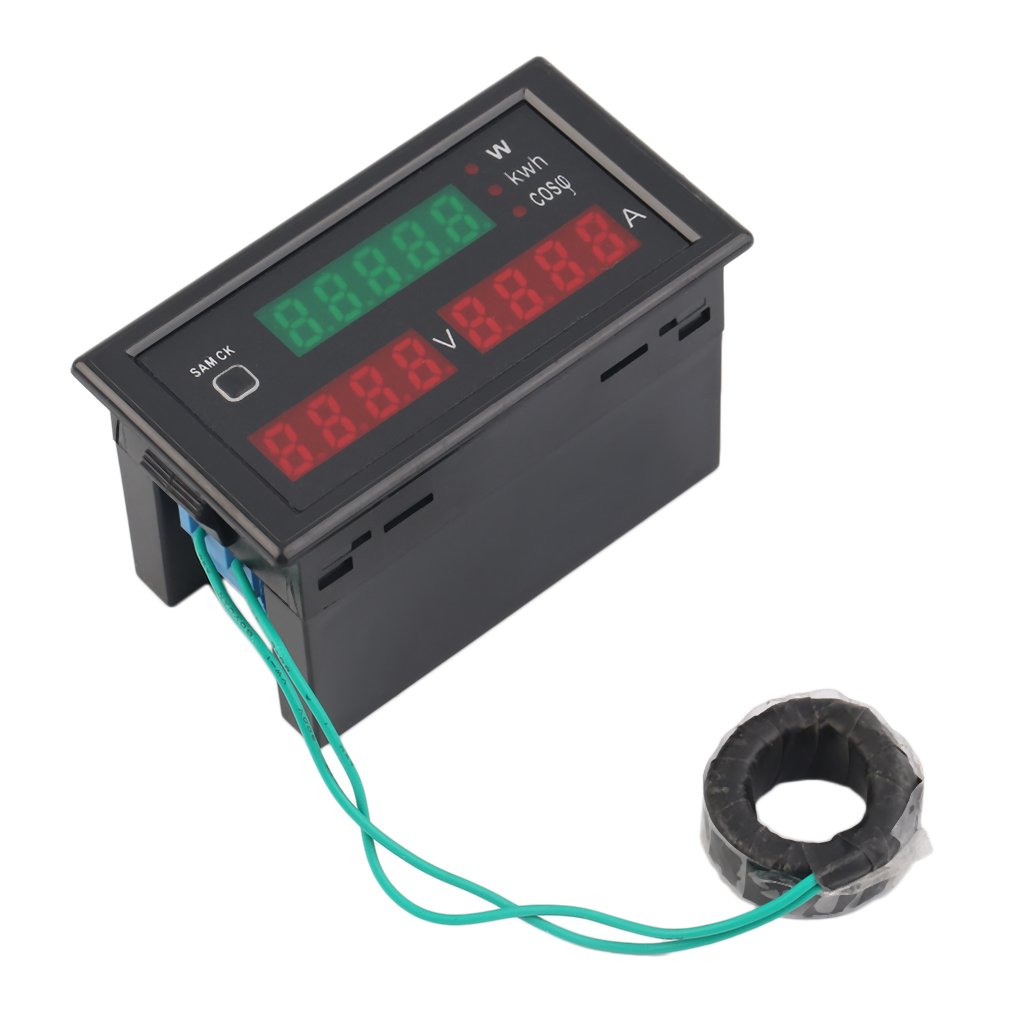 Superior High QAC80-300V 100A Digital LED Current Voltage Tester Meter Electric Energy Power Factor Detection With CT