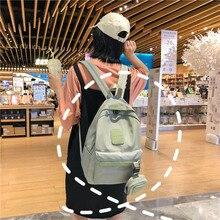 купить 2019 Fashion Nylon Backpack Women Laptop Backpack Young Women Korean Style School Bag Travel Bag Backpacks For Teenage Girls по цене 494.35 рублей
