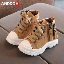 Size 21-30 Kids Anti-slippery Mid-cut Short Boots Baby Lightweight Casual Shoes Child Footwear Girls Wear-resistant Martin Boots cheap ANDDOH unisex Rubber CN(Origin) 13-24m 25-36m Summer Sewing Children Fashion Boots Flat with Cotton Fabric Round Toe Fits true to size take your normal size