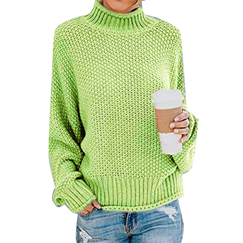 Autumn Winter Women's Sweater Basic Female Pullover Batwing Sleeve Solid Femme Casual Knitted Streetwear pull femme jersey mujer