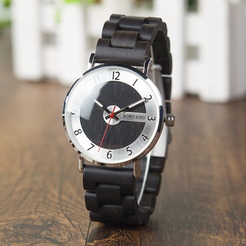 BOBO BIRD Men Women Wooden Watches relogio masculino Wood Band Top Brand Quartz Wristwatch Timepieces Accept Drop Shipping|Quartz Watches| |  - title=