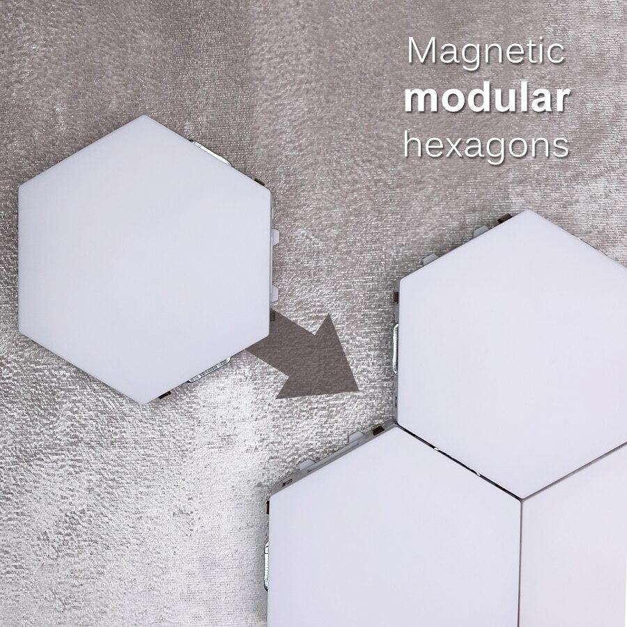 de parede criativo geometria luz inteligente regulavel 03