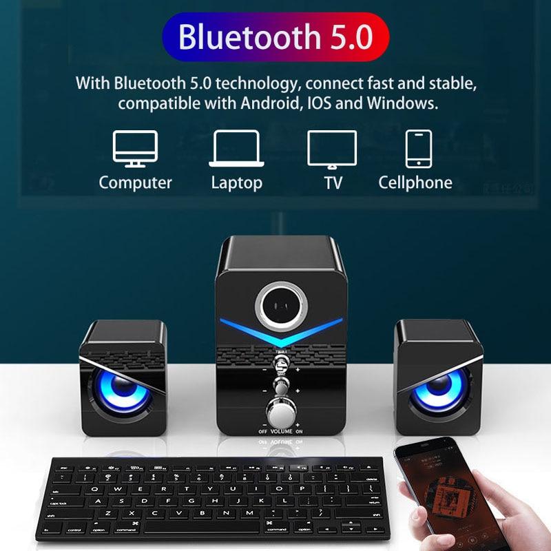 Home Theater System Caixa De Som PC Bass Subwoofer Bluetooth Speaker Computer Speakers Music Boombox Desktop Laptop Altavoces TV 3