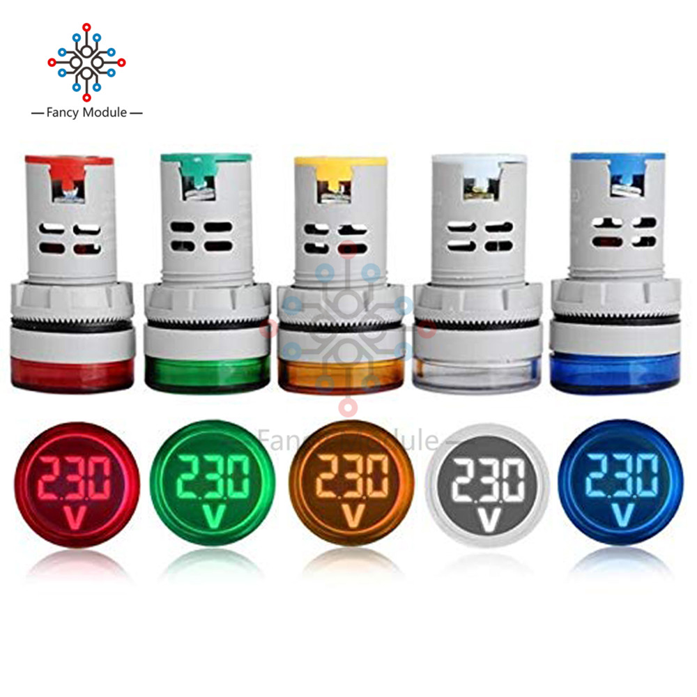 Diymore 22mm AD16-22DSV LED Digital Display Voltmeter Indicator LED Light Voltage Test Meter DC 6 -100V
