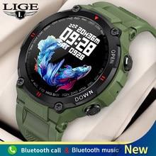 LIGE New Smart Watch Men Sport Fitness Tracker Bluetooth Call Music Control Men's Watch IP67 Waterproof Women Smartwatch 400mAh