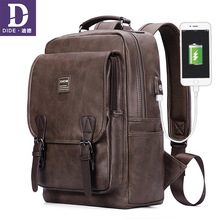 DIDE Fashion USB charging Laptop School Backpack For Teenage Boys Men Anti-theft Cover backpack men waterproof Back Pack