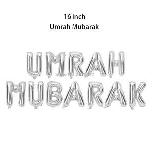 Image 5 - umrah mubarak balloons eid mubarak  Islam Muslim new year festival party decorations letter foil balloon banner