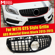 For MercedesMB A-Class W176 Grille GTS Style Front Grille ABS Material Gloss Black Without Emblem A180 A200 A250 A260 2013-2015 abs material blcak color trd style front grille for 2015 2017 hilux revo