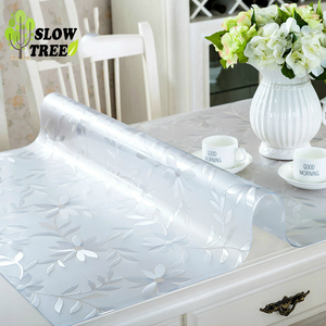 Slow Tree PVC Tablecloth Transparent Press Table Mat Waterproof Ant Oil Antifouling Cover Desk/Cabinet Cover Cloth Party Family(China)