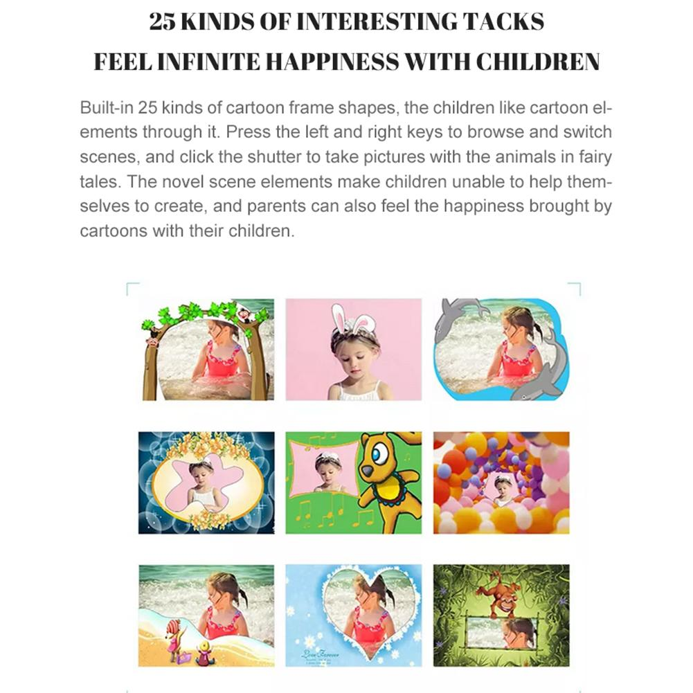 "Hdefd49ac7f0f4e159f792bcccee19888K Children Camera 2.8"" IPS Eye Protection Screen HD Touch Screen Digital Dual Lens 18MP Camera for Kids"