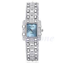 Модный женский потрясающий браслет кварцевые наручные часы серебряный