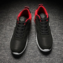 лучшая цена Mens Shoes Sports Shoes Comfortable Breathable Autumn Running Trainers For Men Outdoor Black Gray Walking Sneakers Sport Shoes